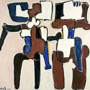 """""""Oswaldo Vigas, Antológica 1943-2013"""" en el Museo de arte contemporáneo de Lima"""